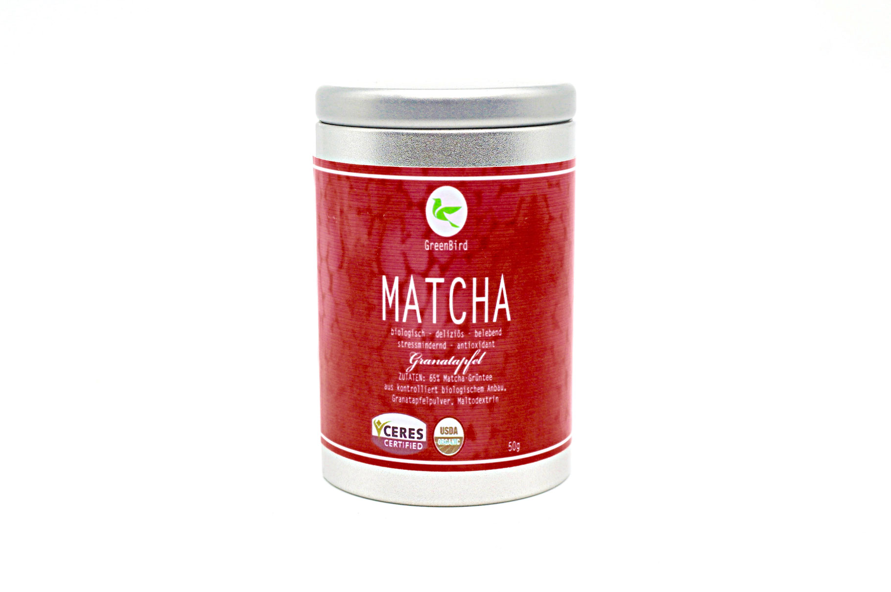 matcha tee granatapfel bio 50 g matcha tee g nstig kaufen auf ich. Black Bedroom Furniture Sets. Home Design Ideas
